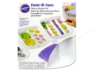 Cooking/Kitchen Blue: Wilton Containers Storage Tray Set Flower Form N Save 6pc