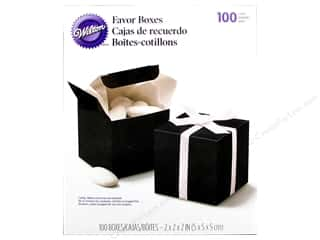 Cooking/Kitchen Black: Wilton Containers Favor Boxes Square Black 100pc