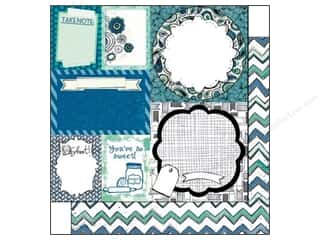 Zig Clearance Patterns: Bo Bunny 12 x 12 in. Paper Zip A Dee Doodle Collection Zig Zag (25 pieces)