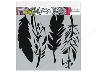 Feathers Scrapbooking: The Crafter's Workshop Template 12 x 12 in. 4 Feathers