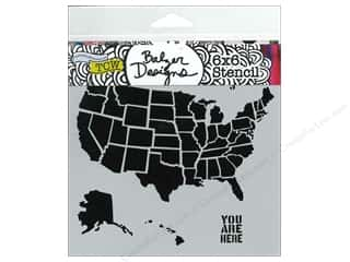 The Crafters Workshop Template 6 x 6 in. US Map