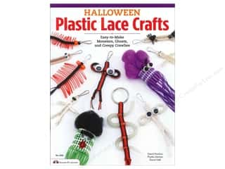 Macrame Black: Design Originals Halloween Plastic Lace Crafts Book