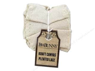 Bo Bunny Kraft Pleated Lace Canvas