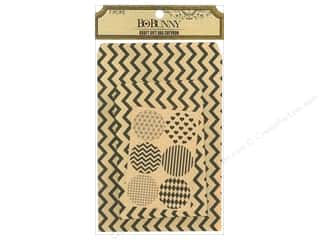 Valentines Day Gifts: Bo Bunny Kraft Gift Bag Chevron