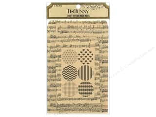 Music & Instruments Stickers: Bo Bunny Kraft Gift Bag Music Notes