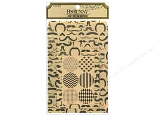 Papers Gifts & Giftwrap: Bo Bunny Kraft Gift Bag Mustache