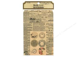 Valentines Day Gifts: Bo Bunny Kraft Gift Bag Newsprint