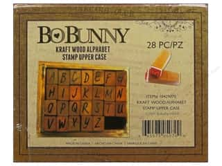 Bo Bunny Wood Alphabet Stamps Uppercase