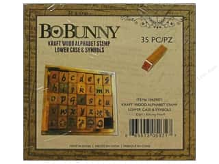 Bo Bunny ABC & 123: Bo Bunny Wood Alphabet Stamps Lowercase & Symbols