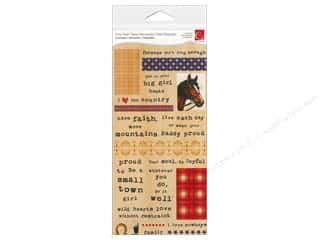 Cosmo Cricket Sticker Tiny Text Cowgirl