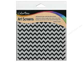 ColorBox: ColorBox Art Screens Stencil Chevrons
