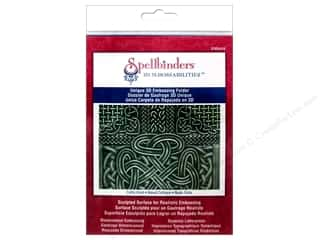 Sculpting Tools: Spellbinders Embossing Folder M Bossabilities 3D Celtic Knot