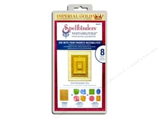 Spellbinders Nestabilities Die Gold Rectangles One