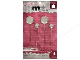 Spellbinders Media Mixage Bezels Circle Hat Pin Silver