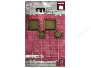 Spellbinders Media Mixage Bezels Square Hat Pin Bronze