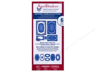 Spellbinders Metal Stencils: Spellbinders Nestabilities Majestic Elements Die Majestic Labels Twenty-Five