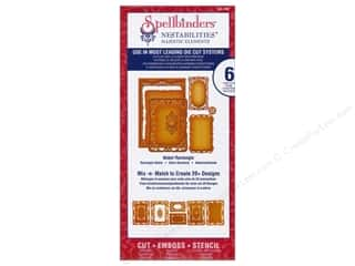 "Spellbinders 6"": Spellbinders Nestabilities Majestic Elements Die Nobel Rectangle"
