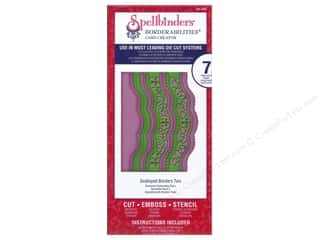 Borders inches: Spellbinders Borderabilities Die Scalloped Borders Two