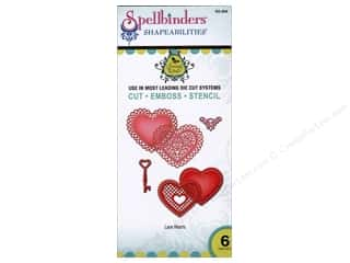 Embossing Aids Valentine's Day Gifts: Spellbinders Shapeabilities Die Lace Hearts