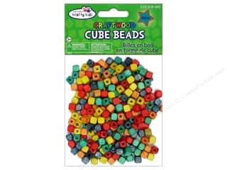 Multicraft Wood Bead Cube 6mm Color 250pc