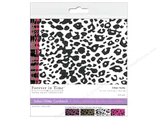 Multicraft Cardstock 6x6 Safari Glitter A 4pc
