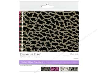 Multicraft Cardstock 6x6 Safari Glitter B 4pc