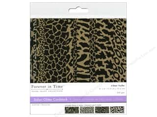 Multicraft Cardstock 6x6 Safari Glitter D 4pc