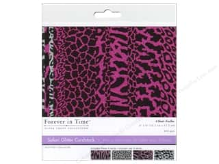 Multicraft Cardstock 6x6 Safari Glitter E 4pc