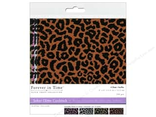 Multicraft Cardstock 6x6 Safari Glitter F 4pc