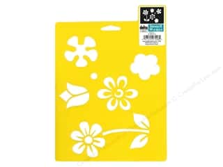 Clearance Blumenthal Favorite Findings: Delta Stencil Mania 7x10 Flowers