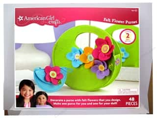 American Girl Kit Felt Flower Purse