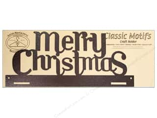 "Ackfeld Mfg. Company Quilt Racks / Quilt Hangers: Ackfeld Craft Holders Tab Merry Christmas 16"" Copper"