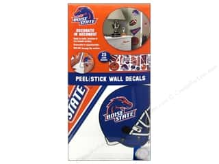 Decals Black: York Peel & Stick Decal Wall Boise State 4 Sheet