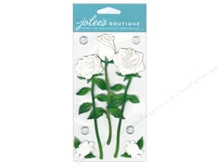 Jolee's Boutique Stickers White Long Stem Roses