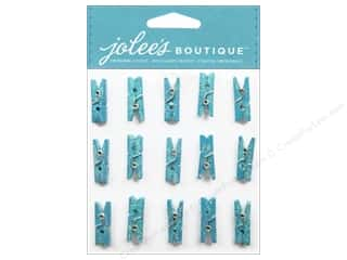 Jolee's Boutique Embellishment Glitter Clothespins Blue