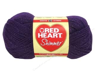 shimmer yarn: Red Heart Shimmer Yarn 3.5 oz. Plum