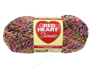 shimmer yarn: Red Heart Shimmer Yarn #1949 Kaboodle 240 yd.