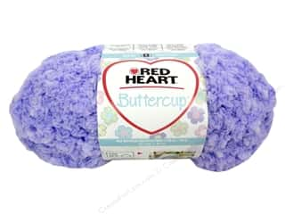 Pom Poms Ribbon Work: Coats & Clark Red Heart Buttercup Yarn 1.76oz Sugar Plum