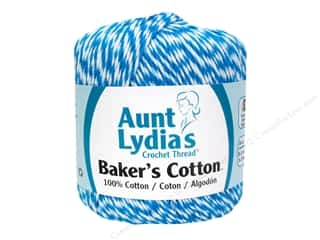 Weekly Specials C & T Publishing: Aunt Lydia's Baker's Cotton Size 3 Turquoise