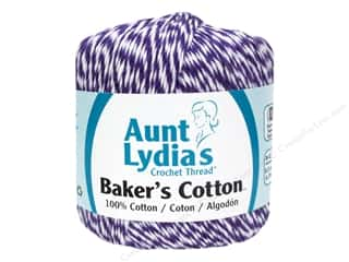 Weekly Specials Clover Amour Crochet Hooks: Aunt Lydia's Baker's Cotton Size 3 Purple