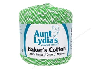 Weekly Specials Clover Amour Crochet Hooks: Aunt Lydia's Baker's Cotton Size 3 Green