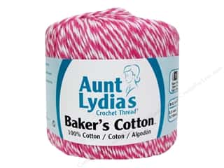 Weekly Specials Clover Bias Tape Maker: Aunt Lydia's Baker's Cotton Size 3 Pink