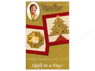 Clearance Christmas: Quilt In A Day Holiday Wreath And Tree Pattern