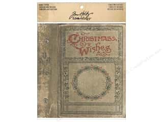 Tim Holtz Idea-ology Worn Cover Christmas Wishes
