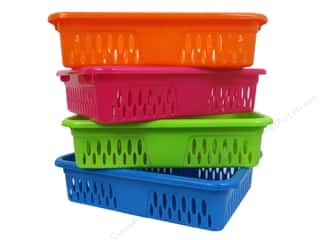 Multicraft Organizer Basket 10 x 7 1/2 x 2 1/4 in. Assorted (12 piece)