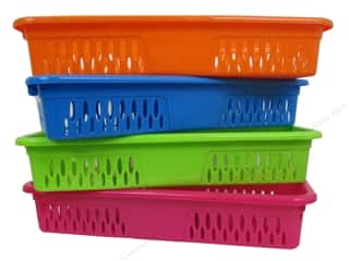 Organizers Basic Components: Multicraft Organizer Basket 13 1/4 x 4 3/4 x 2 1/4 in. Assorted (12 pieces)