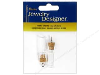 Darice JD Charms 28mm Glass Bottle Cork Stopper