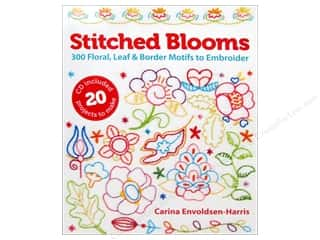 needlework book: Lark Stitched Blooms 300 Floral, Leaf & Border Motifs To Embroider Book by Carina Envoldsen-Harris