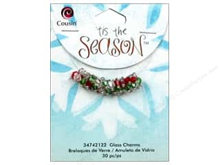 2013 Crafties - Best Adhesive: Cousin Charm Tis The Season Glass/Metal Bicone Silver