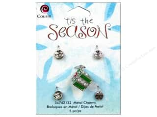 Cousin Charm Tis The Season Metal Present 5pc
